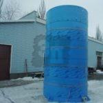 Цилиндрическая (круглая) вертикальная или горизонтальная пластиковая емкость
